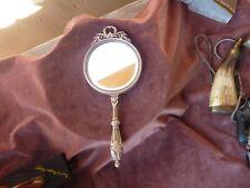 face à main double face style louis XVI,miniature peinte main,glace biseautée