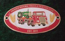 GRILLE / CAR BADGE - HARDEN HISTORIC TRUCK& TRACTOR CLUB - EST. 2011