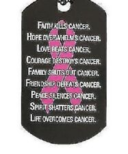 awareness CANCER PINK RIBBON HOPE pendant 2 CHARMS men women mom  survive heal