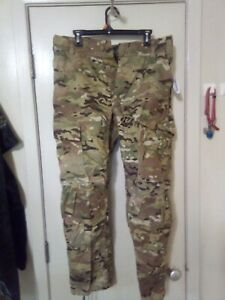 New Multicam OCP Army Combat Pants w Knee Pad Slots, Flame Resistant Med Short