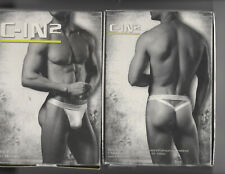 NIB Lot  2 C-IN2 Core Y-Back Thong White XL Discontinued Model 1002