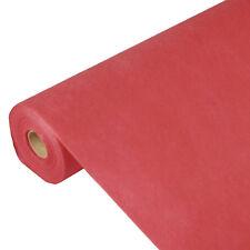 """3 rote Tischdecken stoffähnlich Vlies """"soft selection"""" 40 m x 1,18 m"""