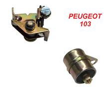CONDENSATEUR + RUPTEUR PEUGEOT 101 102 103 104 MOBYLETTE VIS PLATINEE KIT MOTEUR