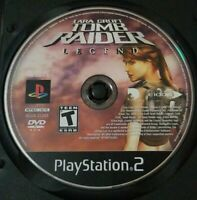 Sony PlayStation 2 PS2 Tomb Raider Legend Game Disc Only In Black Case