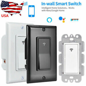 Smart WIFI Light Wall Switch Remote Voice Control Smart Life Alexa Google IFTTT