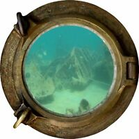 Huge 3D Porthole Ship Wreck under sea View Wall Stickers Film Art Decal 474