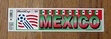 ORIGINAL 1994 WORLD CUP USA FOOTBALL MEXICO BUMPER STICKER DECAL UNSOLD SOCCER