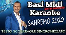 BASI MIDI MP3 Karaoke Sanremo 2020 Festival 20 BASI MIDI più 29 MP3 OMAGGIO