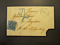 Baden SC# 8 On 1860 Cover w/ 113 5 Ring Cancel (Sm Pinhole In Stamp) - Z4030