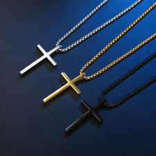 Men's Women's Cross Pendant Solid Stainless Steel Boy Prayer Gift High Polished