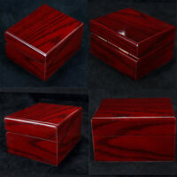 4Pcs Red Wood Watch Box Jewelry Storage Case Pillow Wooden Case Organizer
