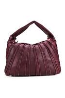 Bottega Veneta  Womens Zip Up Shoulder Handbag  Purple Leather