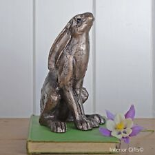 Frith Sculpture Hilda Hare by Paul Jenkins in Cold Cast Bronze Country Gift S135