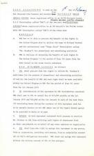 Paul McCartney/John Lennon/Ringo Signed Pyramid 3 Page Doc. PSA/Caiazzo- BEATLES