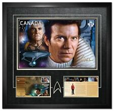 William Shatner Autographed Limited Edition Framed Print as Star Trek's Captain