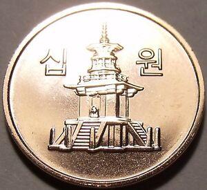 Gem Bu South Korea 2012 10 Won~Awesome Pagota~We Have Unc Coins