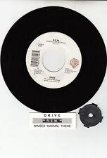 "R.E.M. (REM)  Drive & Winged Mammal Theme  45 rpm 7"" vinyl record RARE!!!"