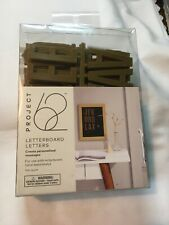 """Project 62 Letterboard Letters 2"""" Gold 104 Pieces NIP"""