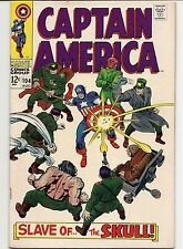 Captain America #104, Marvel Comics, Aug 1968.  Comic is VF-NM, off-white pages.
