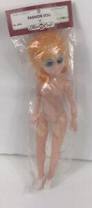 "Vintage Fibre Craft Fashion Doll 15"" Yellow Eyes Plastic Girl High Heels"