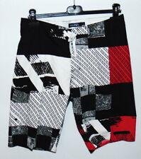 Short de Bain Homme WaiHiLi Noir, Blanc, Rouge 100% Polyester