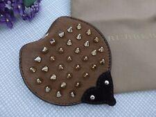 NUOVO senza etichetta Authentic Burberry in pelle scamosciata in pelle borchie Riccio portamonete