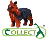 Figurine Chien Yorkshier Terrier Animaux Domestique Statue Animal Collecta 88078