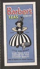 BARBERS TEA-ADVERTISING CARD DOGS- QUALITY CARD!!!