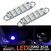 2Pcs 12V 43mm 12SMD Festoon Rigid Loop 3528 LED Bulb Interior Light 561 562 563