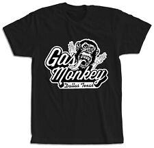 Camiseta moteros negra manga corta Gas Monkey Mono Hombre Dallas Texas Garage