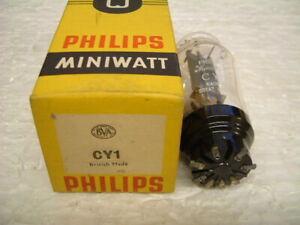 CY1 Rectifier valve/tube by PHILIPS MINIWATT. NOS in Box. Blackburn 1957. GOOD.