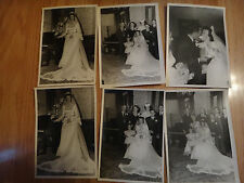 "6 Vintage 5x7"" Austin Texas Photos Wedding 1946 Photographs"