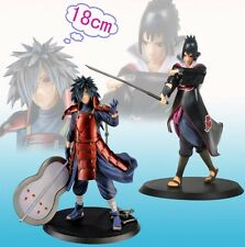 Set 2 Naruto Shippuden Uchiha Madara/Uchiha Sasuke Toy Figure Doll New