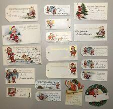 Large Group Nimble Nicks Antique Vintage Christmas Gift Present Tags
