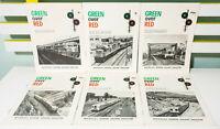 Lot of 6x Green Over Red: Australia's Modern Railway Magazine - Vintage 1971-72!