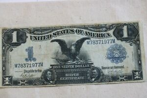 "1899 $1 Silver Certificate , F-232, ""Black Eagle Note"", Large Note"