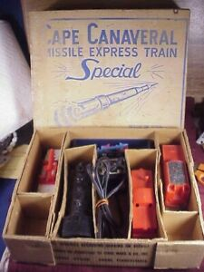 VINTAGE MARX CAPE CANAVERAL MISSILE EXPRESS TRAIN W/ ORIG BOX.
