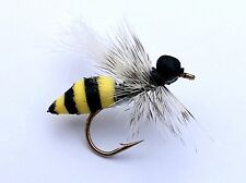 Fly Fishing Flies (Bass, Bream, Trout, Salmon, Perch) Henry's Wasp HF Fly (6)