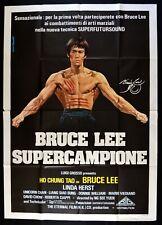 Manifesto Bruce Lee Superchampion Kung Fume Martial Arts He True Story Chen M338