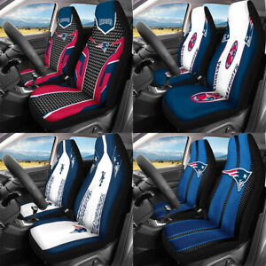 New England Patriots Car 2 Seat Covers Universal Auto Front Cushions Protectors