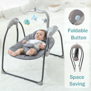 Bluetooth Electric Baby Swing Cradle Infant Bouncer Rocker Musical Seat Remote