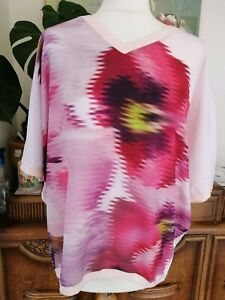 NEW!! Stunning TED BAKER summery floral knit top woven front Sz 2 UK 10/12