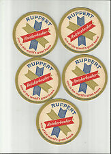 "Lot Of 5 Knickerbocker Beer Coasters=NYC, NY ""#019 ""World's Great Beers"""