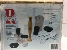 Rocco Hand Blender Immersion Complete W Accessories #ROHB300 White W/Paperwork