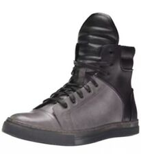 Kenneth Cole New York Double Headers Gray & Black High Top Sneakers Shoes SZ 9.5