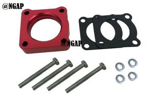Red Throttle Body Spacer Fit 93-99 Mitsubishi 3000GT 00-05 Eclipse Galant 3.0L
