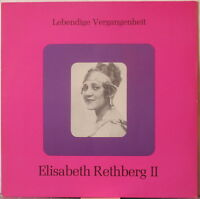ELISABETH RETHBERG II LP Historic Recordings – on Lebendige Vergangenheit