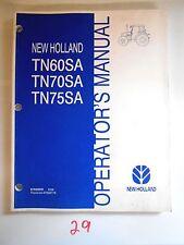 New Holland Tn60Sa Tn70Sa Tn75Sa Tractor Operator'S Owner'S Manual 8/06