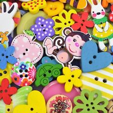 100 Colourful Fun Mixed Random Craft Buttons Scrapbooking Sewing Arts