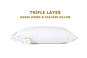 Hotel Pillows Premium Hotel Quality Duck Goose Down Feather Luxury Unique 2-Pack